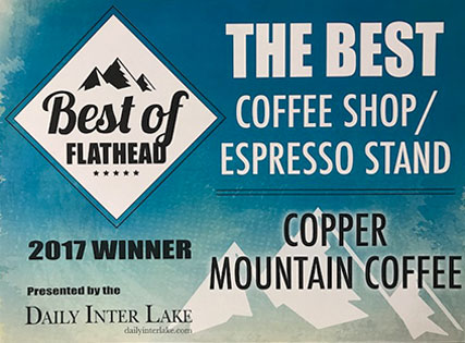 Copper Mountain Coffee Daily Interlake Best of the Flathead 2017